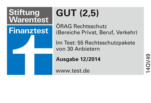 Finanztest Label 2014 -